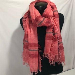Eileen Fisher Stripe Virgin Wool Cashmere Scarf